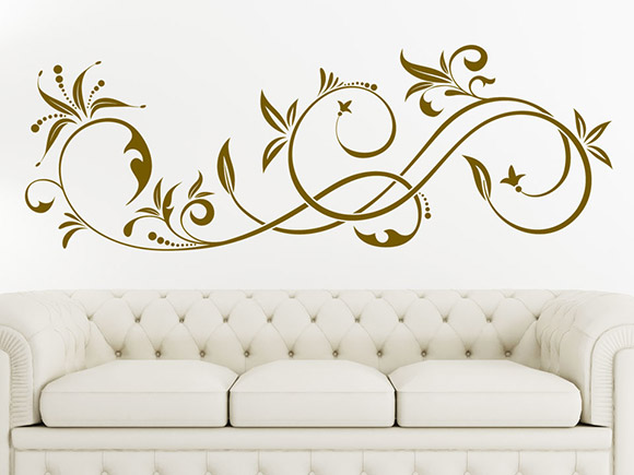 wandtattoo elegante schn rkel wandtattoo ornament. Black Bedroom Furniture Sets. Home Design Ideas
