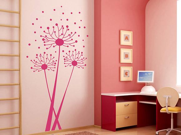 wandtattoo luftiger l wenzahn wandtattoo pusteblume. Black Bedroom Furniture Sets. Home Design Ideas