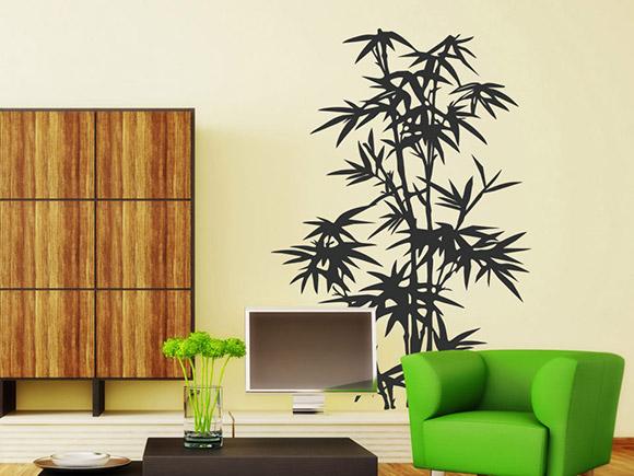 Wandtattoo Bambus Pflanze Wandtattoo Natur asiatisch ...