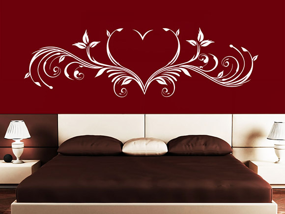 wandtattoo ornament herz wandtattoo ornamente schlafzimmer wandtattoos schn rkel. Black Bedroom Furniture Sets. Home Design Ideas