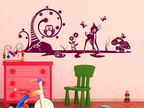 wandtattoo m rchen motive mit s em reh f rs kinderzimmer. Black Bedroom Furniture Sets. Home Design Ideas