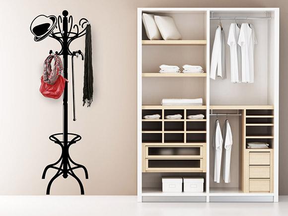 wandtattoo garderobenst nder wandtattoo garderobe wandtattoos. Black Bedroom Furniture Sets. Home Design Ideas