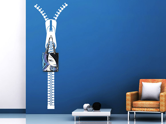 wandtattoo garderobe rei verschluss wandtattoo garderoben. Black Bedroom Furniture Sets. Home Design Ideas
