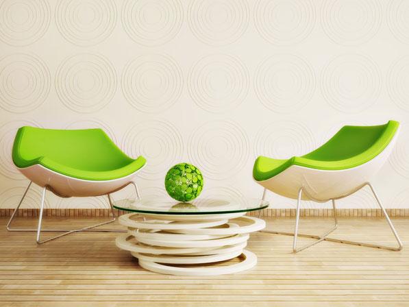 grün hellgrün Deko Wand