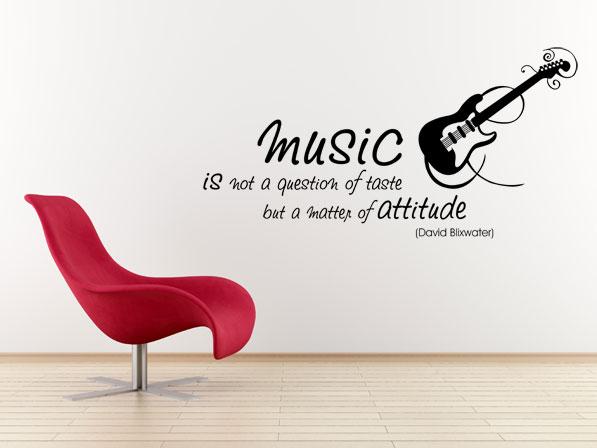 Wandtattoo Musik Music