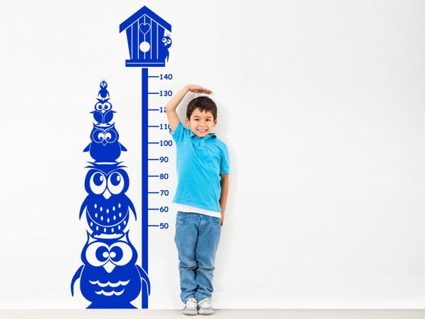 Zahlen Lernen mit der Wandtattoo Messlatte im Kinderzimmer