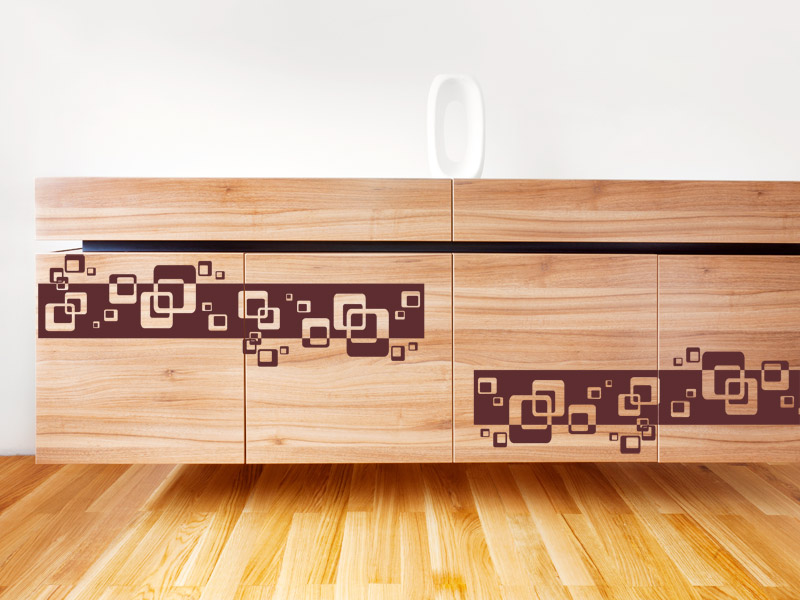 deko tipp wandtattoo auf m bel kleben. Black Bedroom Furniture Sets. Home Design Ideas