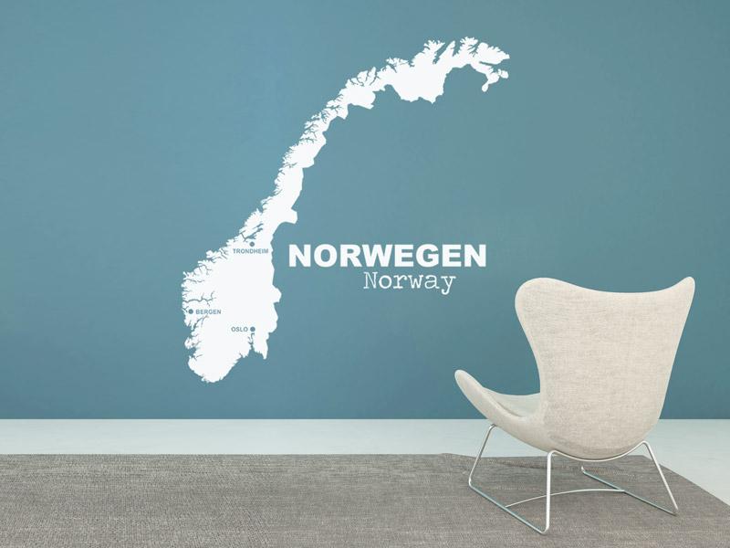 norwegen-silhouette-als-wandtattoo