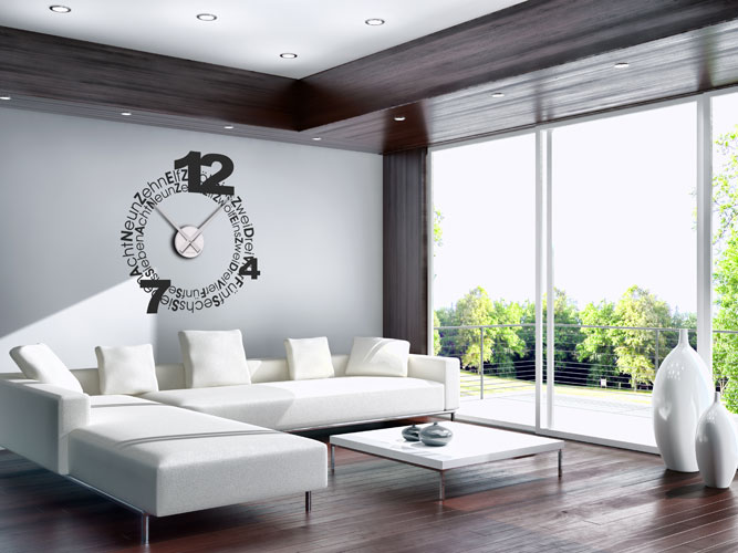 design wanduhren applicata watchout wanduhr aus holz mit grnem zeiger uhren wanduhren und. Black Bedroom Furniture Sets. Home Design Ideas