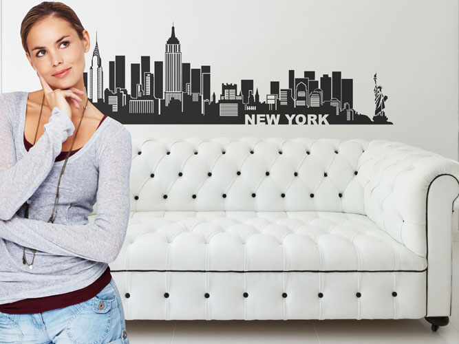 Big Apple: Das Wandtattoo New York mit der Skyline von Manhattan