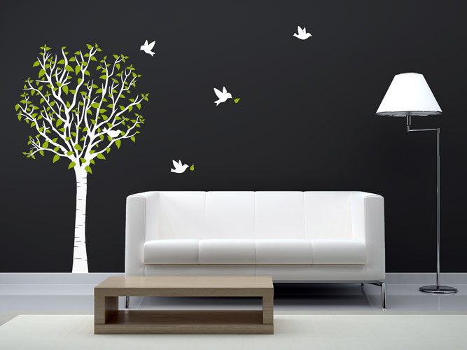 wandtattoo halber baum reuniecollegenoetsele. Black Bedroom Furniture Sets. Home Design Ideas
