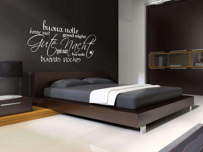 schlafzimmer deko wand. Black Bedroom Furniture Sets. Home Design Ideas