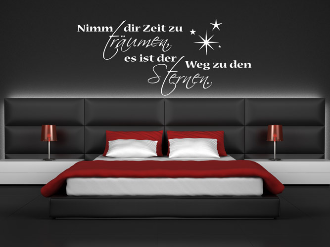 wandtattoos f rs schlafzimmer. Black Bedroom Furniture Sets. Home Design Ideas