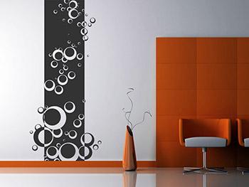 wellness wandbanner mit retro kreisen. Black Bedroom Furniture Sets. Home Design Ideas