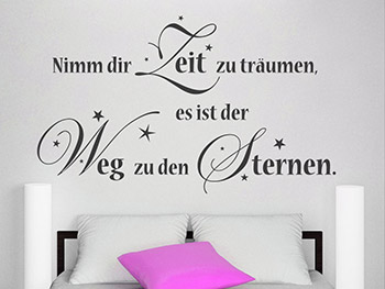 wandtattoo zu den sternen. Black Bedroom Furniture Sets. Home Design Ideas