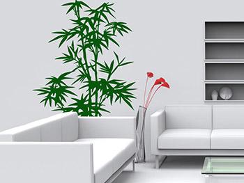 wandtattoo bambus pflanze