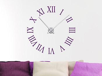 Wanduhr römische zahlen  Wandtattoo Uhr Römische Zahlen - Wanduhr | Wandtattoo.com
