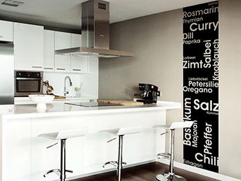 Küche wandtattoo wandgestaltung und konzepte für die küche
