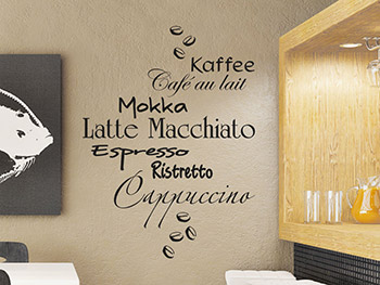 Wandtattoo Kaffee Design