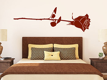 wandtattoo romantische rose. Black Bedroom Furniture Sets. Home Design Ideas