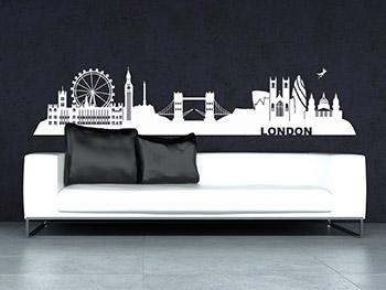 Wandtattoo london skyline mit wahrzeichen - Skyline london wandtattoo ...
