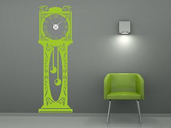 wandtattoo pendeluhr mit uhrwerk. Black Bedroom Furniture Sets. Home Design Ideas