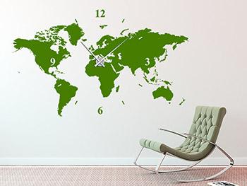 wanduhren als wandtattoos mit zeiger. Black Bedroom Furniture Sets. Home Design Ideas