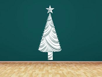 wandtattoo moderner weihnachtsbaum mit stern. Black Bedroom Furniture Sets. Home Design Ideas