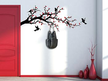 wandtattoo garderoben mit edelstahl wandhaken. Black Bedroom Furniture Sets. Home Design Ideas