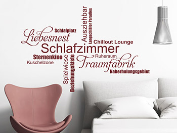wandtattoos als schriften buchstaben und w rter. Black Bedroom Furniture Sets. Home Design Ideas