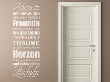 Attraktiv Wandtattoo Braune Wand | Möbelideen, Wohnzimmer Design