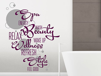 Wandtattoo Wellness Beauty Relax