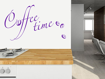 Coffee Time Wandtattoo
