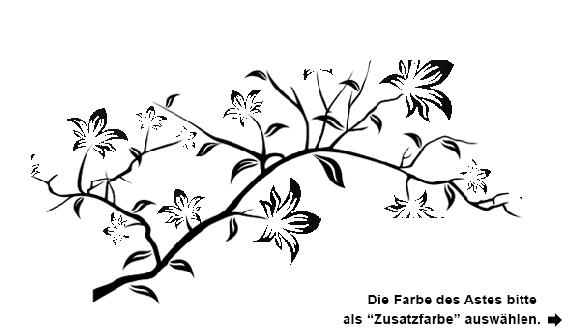 wandtattoo zweig mit lilien blüten in bunt  wandtattoo