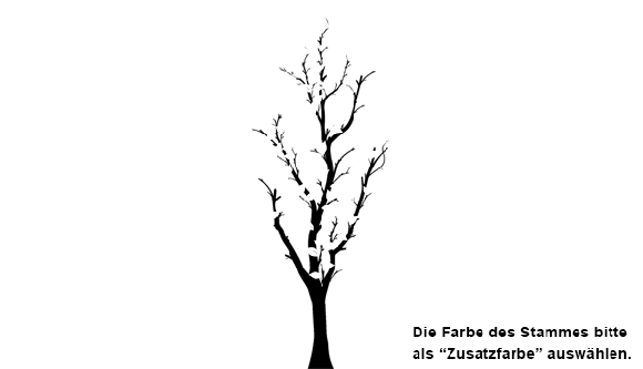 Wandtatoo Hoher Baum bis 2,40 cm | Wandtattoo.com