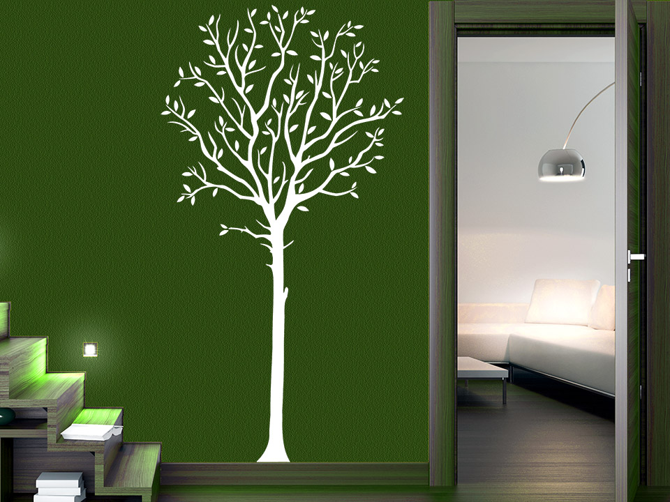 wandtattoo eleganter baum. Black Bedroom Furniture Sets. Home Design Ideas