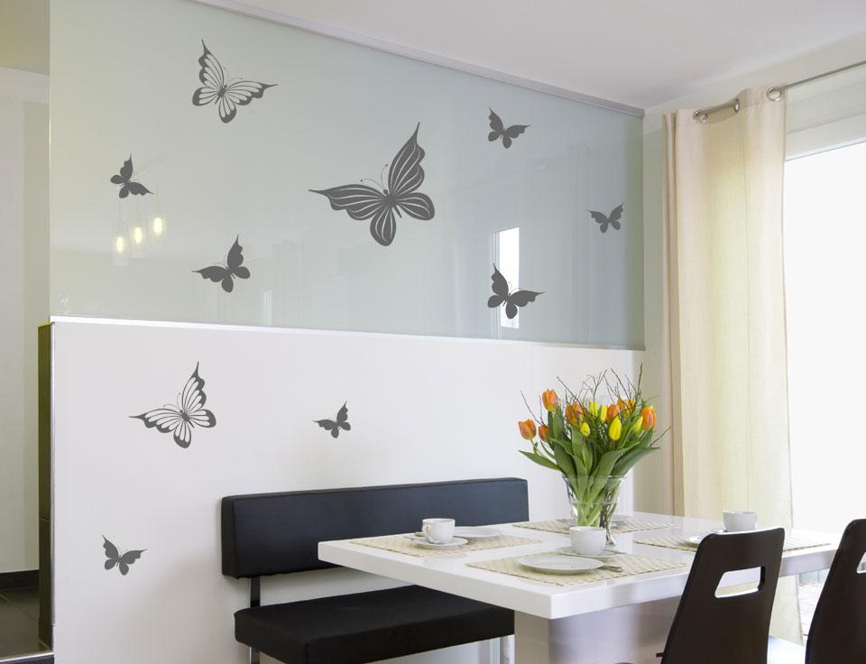 wandtattoo set dekorative schmetterlinge. Black Bedroom Furniture Sets. Home Design Ideas