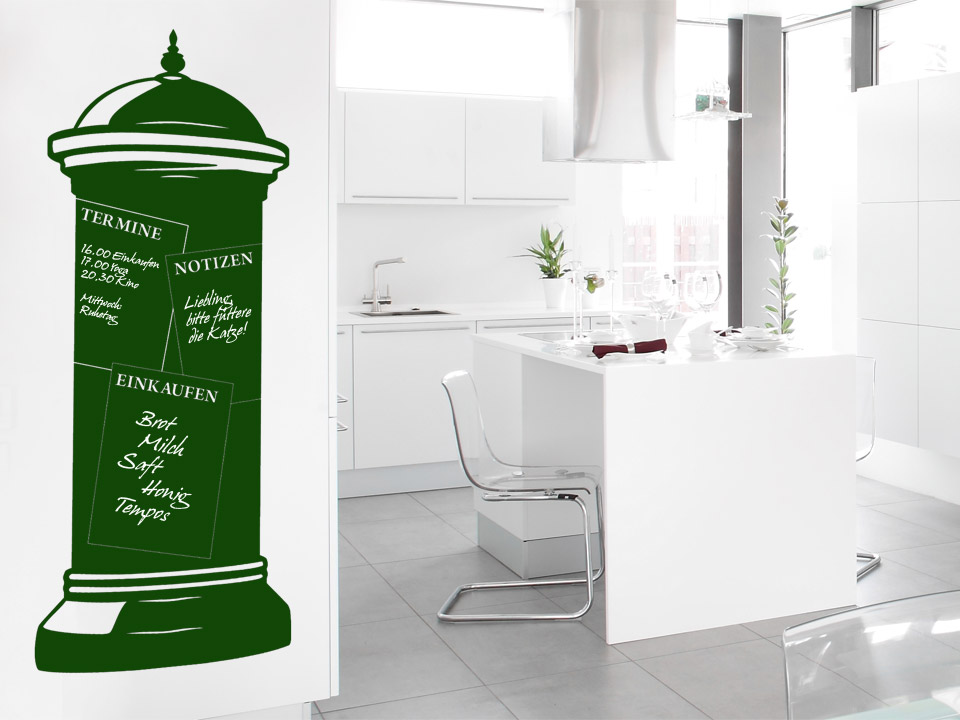 tafelfolie nostalgische litfa s ule. Black Bedroom Furniture Sets. Home Design Ideas