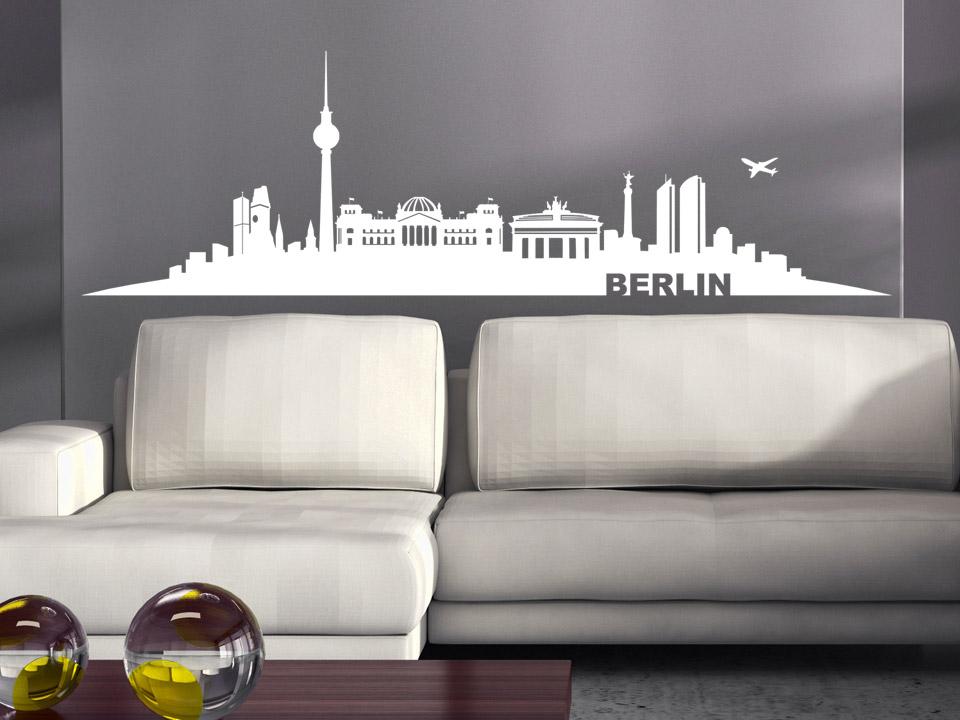 wandtattoo berlin skyline mit wahrzeichen. Black Bedroom Furniture Sets. Home Design Ideas