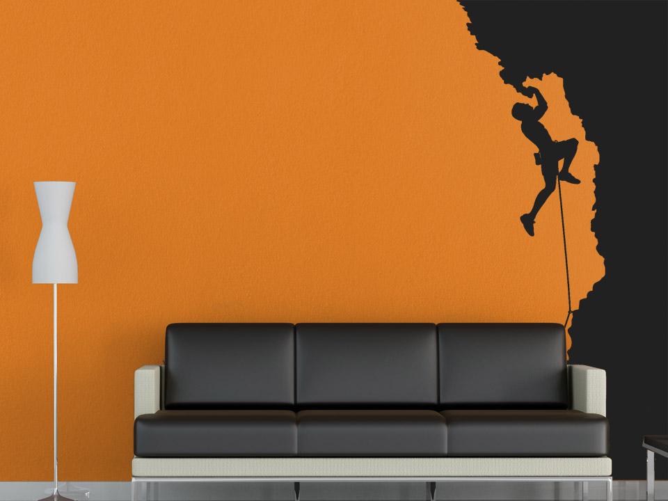 wandtattoo freeclimbing kletterpark. Black Bedroom Furniture Sets. Home Design Ideas