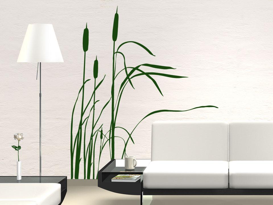 Wandgestaltung Grün  Wandtattoo Wohnzimmer ...