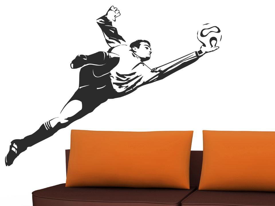 fu ball wandtattoo torh ter torwart bei. Black Bedroom Furniture Sets. Home Design Ideas