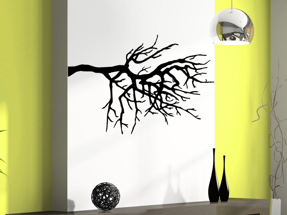 wandtattoo stilvoller zweig. Black Bedroom Furniture Sets. Home Design Ideas