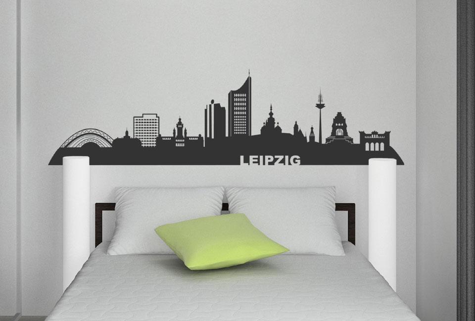 wandtattoo leipzig skyline der stadt. Black Bedroom Furniture Sets. Home Design Ideas