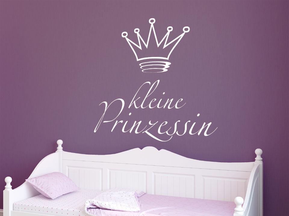wandtattoo kleine prinzessin mit krone. Black Bedroom Furniture Sets. Home Design Ideas
