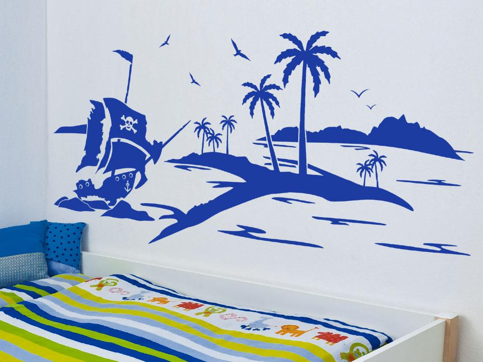 wandtattoo pirateninsel f r kleine piraten. Black Bedroom Furniture Sets. Home Design Ideas