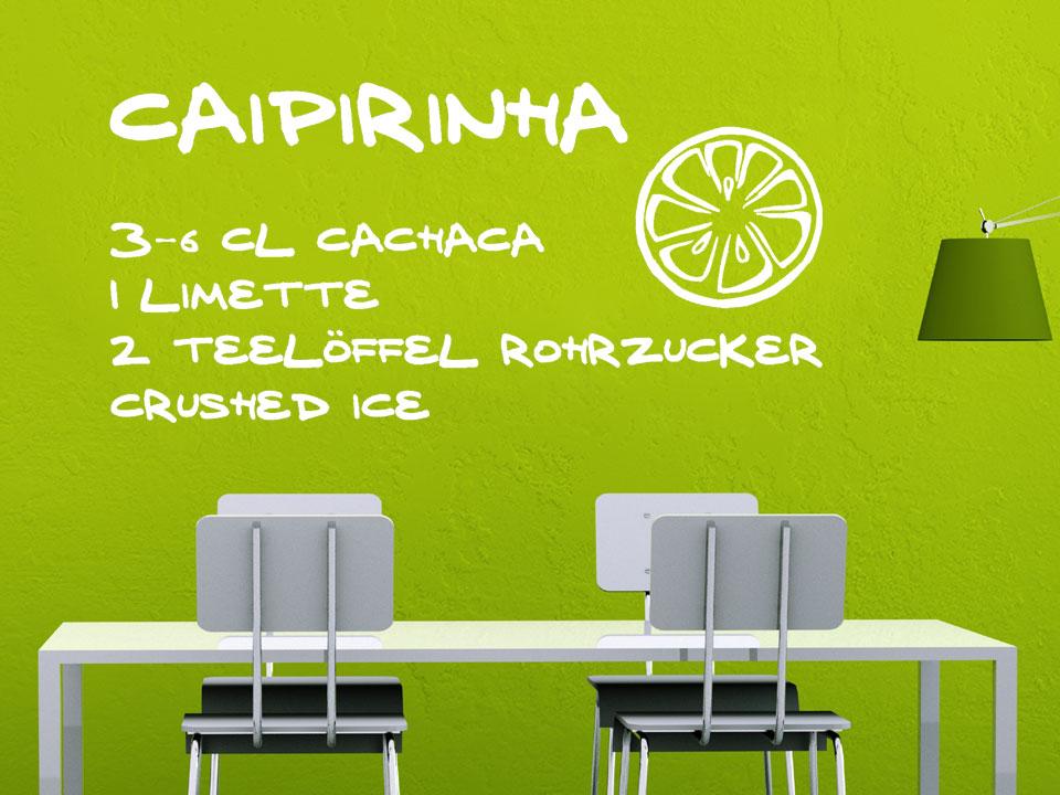 wandtattoo rezept caipirinha. Black Bedroom Furniture Sets. Home Design Ideas