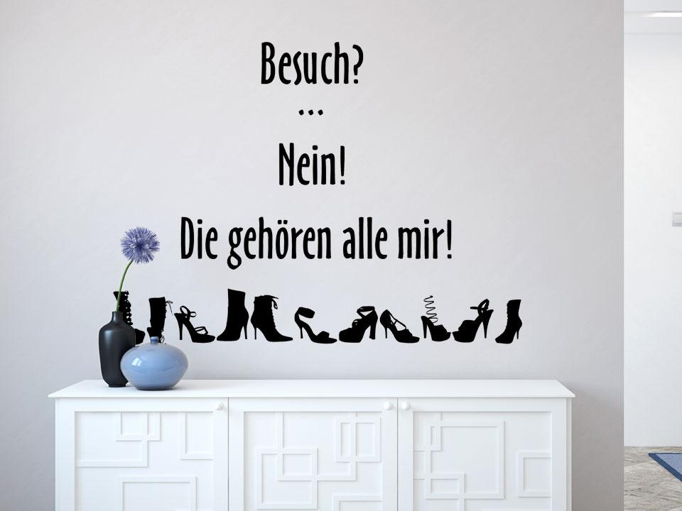 Sprüche Wandtattoo Schuhtick In Schwarz Im Schlafzimmer. Sprüche Wandtattoo  Schuhtick In Schwarz Im.