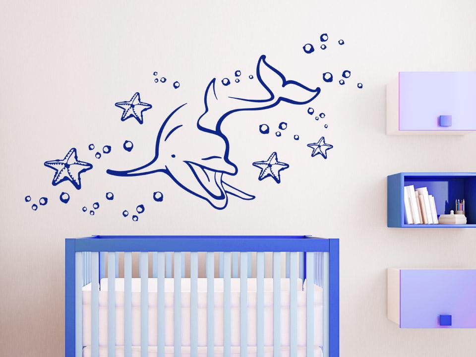 Wandtattoo delphin welt f rs babyzimmer - Babyzimmer tattoo ...