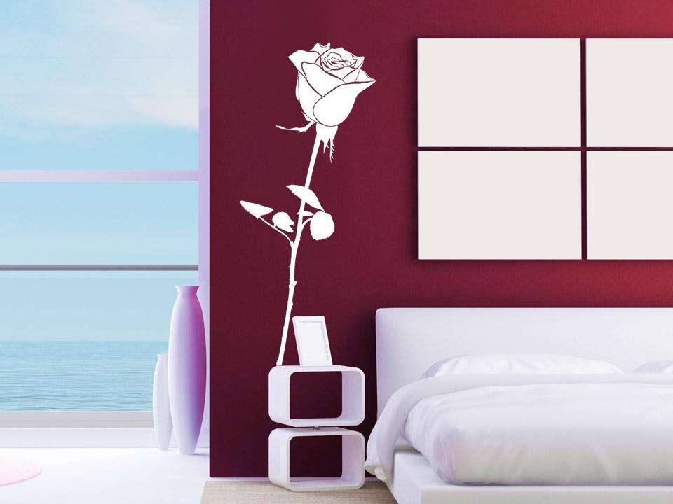 Wandtattoo Romantische Rose